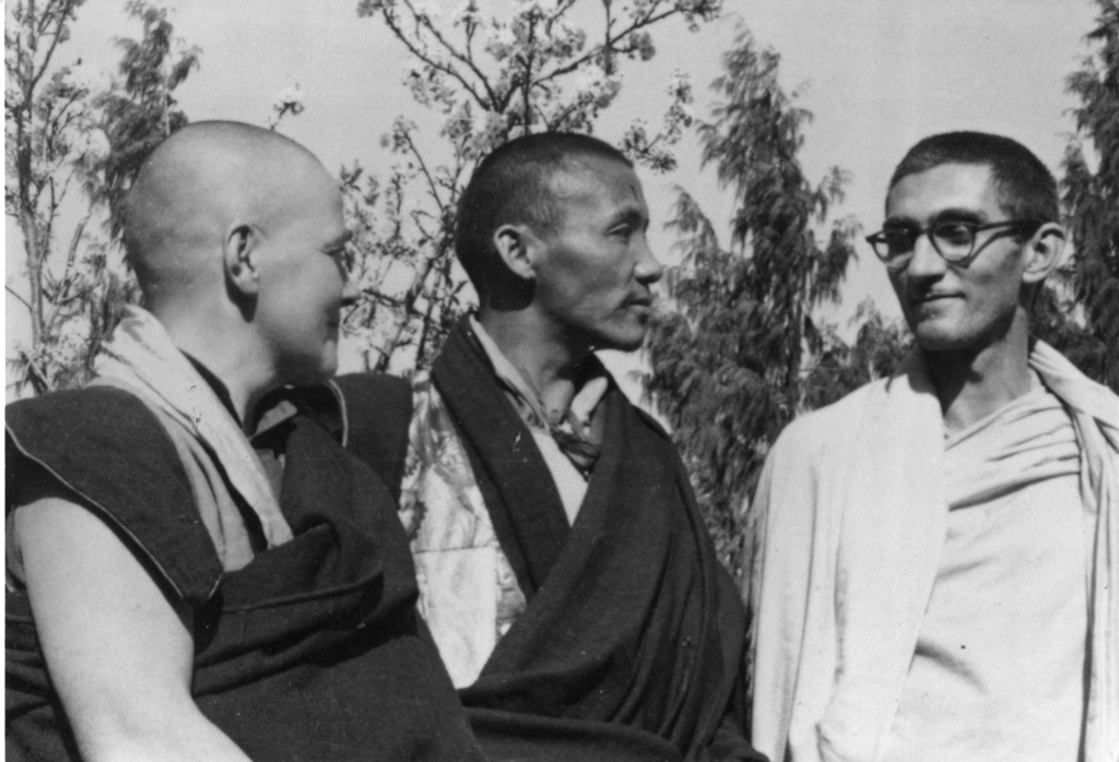 Sangharakshita-With-Kachu-Rimpoche-And-A-French-Nun